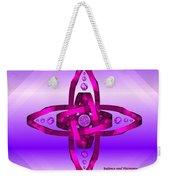 Balance And Harmony - Purple Weekender Tote Bag