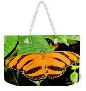 Banded Orange Butterfly Weekender Tote Bag