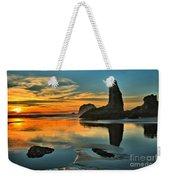 Bandon Beach Sunset Weekender Tote Bag by Adam Jewell
