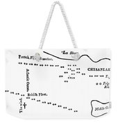 Battle Of Virginia Capes Weekender Tote Bag