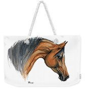 Bay Arabian Horse Watercolor Painting  Weekender Tote Bag