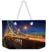 Bay Bridge Weekender Tote Bag by Inge Johnsson