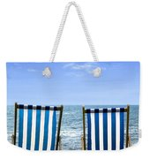 Beach Chairs Weekender Tote Bag by Joana Kruse
