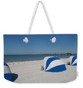 Beach With Beachchairs Weekender Tote Bag