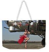 Beautiful 1940s Style Pin-up Girl Weekender Tote Bag