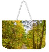 Beautiful Autumn Forest Mountain Stair Path At Sunset Weekender Tote Bag
