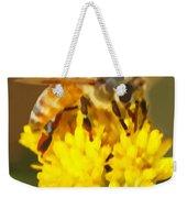 Bee On A Yellow Flower Weekender Tote Bag