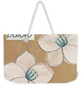 Believe Weekender Tote Bag by Linda Woods