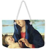 Bellini's Madonna And Child In A Landscape Weekender Tote Bag