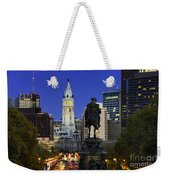 Ben Franklin Parkway And City Hall Weekender Tote Bag