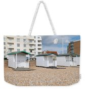 Bexhill Beach Huts Weekender Tote Bag