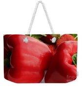 Big Red Peppers And Strawberries  Weekender Tote Bag