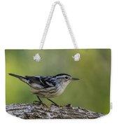 Black And White Warbler Weekender Tote Bag
