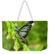 Blue Butterflies In The Green Garden Weekender Tote Bag