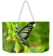 Blue Butterflies In The Green Garden Weekender Tote Bag
