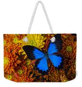 Blue Butterfly On Mums Weekender Tote Bag