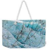 Blue Glacier Ice Background Texture Pattern Weekender Tote Bag