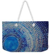 Blue Kachina Original Painting Weekender Tote Bag by Sol Luckman