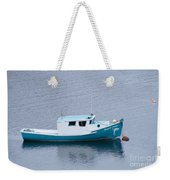 Blue Moored Boat Weekender Tote Bag