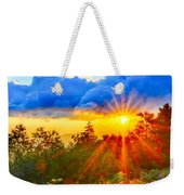 Blue Ridge Parkway Late Summer Appalachian Mountains Sunset West Weekender Tote Bag