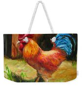 Blue-tailed Rooster Weekender Tote Bag