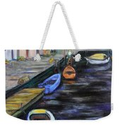 Boats In Front Of The Buildings IIi Weekender Tote Bag