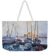 Boats In Rhodes Greece  Weekender Tote Bag
