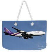 Boeing 747-400 Of Thai International Weekender Tote Bag