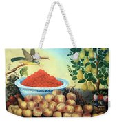Bond's Still Life Of Bird And Dwarf Pear Tree Weekender Tote Bag