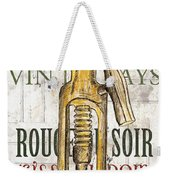 Bordeaux Blanc 1 Weekender Tote Bag