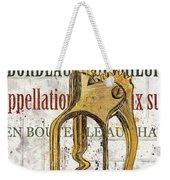 Bordeaux Blanc 2 Weekender Tote Bag by Debbie DeWitt