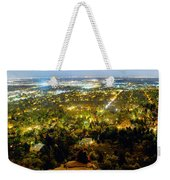 Boulder Colorado City Lights Panorama Weekender Tote Bag