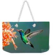 Broad-billed Hummingbird At Ocotillo Weekender Tote Bag
