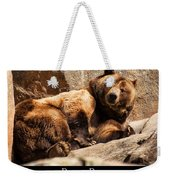 Brown Bear Weekender Tote Bag by Chris Flees