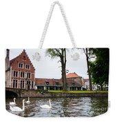 Brugge Canal Scene Weekender Tote Bag