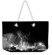 Budweiser Lightning Thunderstorm Moving Out Bw Weekender Tote Bag by James BO  Insogna