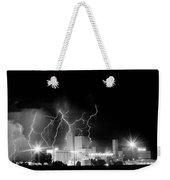 Budweiser Lightning Thunderstorm Moving Out Bw Weekender Tote Bag