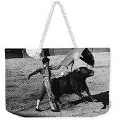 Bull Fight Matador Charging Bull Us-mexico  Border Town Nogales Sonora Mexico 1978-2012 Weekender Tote Bag
