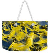 Bull Kelp Blades On Surface Background Texture Weekender Tote Bag