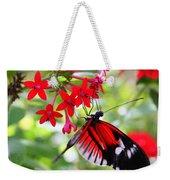 Butterfly On Red Bush Weekender Tote Bag