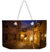 Calcada Da Gloria Street At Night In Lisbon Weekender Tote Bag