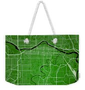 Calgary Street Map - Calgary Canada Road Map Art On Colored Back Weekender Tote Bag