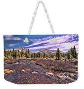 Canadian Rockies Stream Weekender Tote Bag