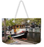 Canal In The City Of Amsterdam Weekender Tote Bag