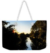 Canal Sunset Weekender Tote Bag