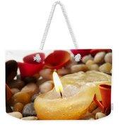 Candle And Petals Weekender Tote Bag