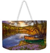Canoe At The Lake Weekender Tote Bag