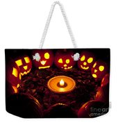 Carved Pumpkins With Pumpkin Pie Weekender Tote Bag