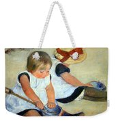 Cassatt's Children Playing On The Beach Weekender Tote Bag