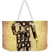Charles Chaplin Quote Typography Art Weekender Tote Bag